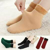 Women's Solid Winter Thick Warm Fleece Lined Thermal Stretchy Socks Elastic HOT!