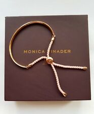 NEW Monica Vinader Bracelet Fiji Friendship Bracelet Light Pink Cord