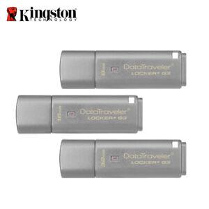 Kingston DataTraveler 8GB 16GB 32GB Locker+ G3 USB 3.0 Encrypted Pen Drive