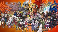 "Naruto japan Anime Silk Cloth Poster 24 x 13"" Decor 43"