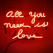 New All You Need Is Love Red Neon Light Sign Lamp Beer Pub Decor Acrylic 14""