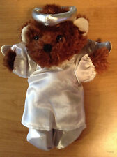 """New 8-10"""" Soft Brown Teddy Bear dress* Angel Outfit*+Accessories Complete # C"""
