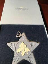 Wedgwood Annual Blue Jasper Star ornament, Holly 2004 Euc in original box