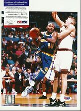 Tim Hardaway Signed 8x10 Photo PSA/DNA Warriors Heat