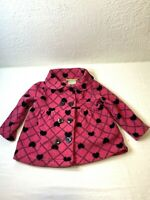 Valentines Penelope Mack Ltd Baby Girls Jacket Sz 18 Mo Pink Heart Buttons
