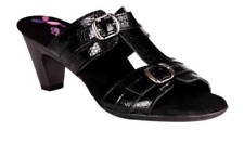 Helle Comfort Elfe Black Wedge Sandal Women's sizes 37-41 NEW!!!