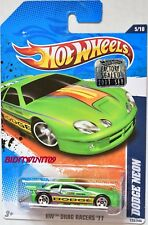 HOT WHEELS 2011 DRAG RACERS DODGE NEON GREEN FACTORY SEALED W+