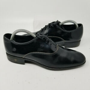 USA Patent Leather Lace Up Low Heel Dress Oxford Shoes Men Size 9 D