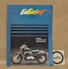 Vtg Harley Davidson Enthusiast Magazine Spring 1983 FXRT XR-1000 Road Racing