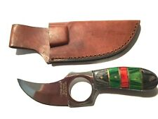 "Deer Creek 6"" Sheath Knife DC-798 BGR Full Tang w/Leather Sheath! Nice Design!"