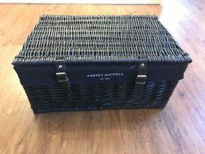 Large Harvey Nichols black hamper basket