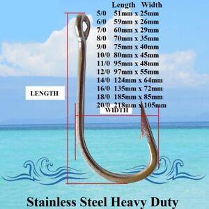 Game Fishing Hooks Stainless Steel Fishing Hooks Trolling Hooks Shark Hooks New