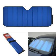 carXS Jumbo Auto Sun Shade Foldable Metallic Blue Wind Shield Reversible Shade