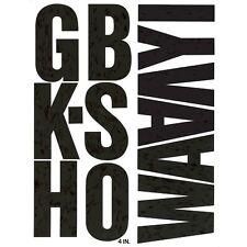 Chartpak 01175 Press-On Vinyl Uppercase Letters, 4 High, Black, New,