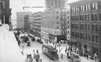 Autos Trolleys Third Avenue Seattle Washington 1914 RPPC Photo Postcard 8911