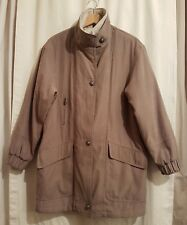 BHS Ladies Size 12 Casual Outgoing Beige Zip Button Up Jacket Coat
