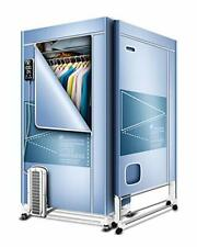 KasydoFf Clothes Dryer Portable 1500W 1.7 Meters Electric Laundry Light Blue