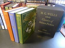 Folio Society CLASSICS OF SCIENCE FICTION, H.G. Wells, 3 Vols., S/C, Illustrated