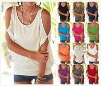 AU STOCK LADIES OFF SHOULDER BASIC TOP TEE DOLMAN BLOUSE PLUS SIZE T-SHIRT T177