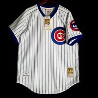 100% Authentic Ryne Sandberg Mitchell Ness Chicago Cubs Jersey Size 48 XL Mens