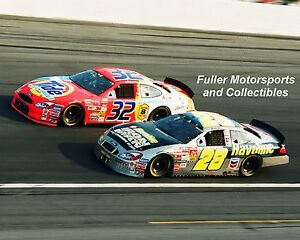 RICKY RUDD IRON MAN 2002 #28 CRAVEN TIDE #32 11X14 PHOTO NASCAR WINSTON CUP