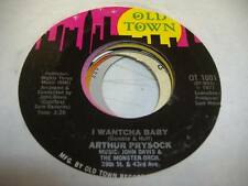 Soul Unplayed NM! 45 ARTHUR PRYSOCK I Wantcha Baby on Old Town