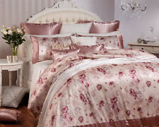 PRIVATE COLLECTION CASSANDRA TEA ROSE Queen Size Bed Quilt Doona Cover Set 3pc