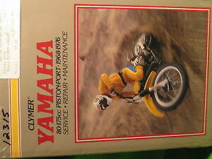 YAMAHA 80-175cc SINGLES 1968-76 CLYMER SERVICE REPAIR MANUAL BOOK NEW
