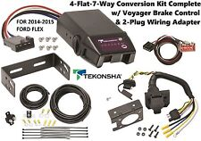 2014-2015 FORD FLEX TEKONSHA 4FLAT-7WAY CONVERSION W/ VOYAGER BRAKE CONTROL NEW