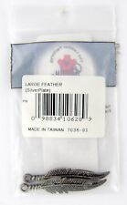 Large Feather Embellishments (Antique Silver Plate) - Tandy Leather #7036-01
