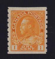 Canada Sc #126 (1923) 1c orange yellow Admiral Coil Mint VF NH MNH