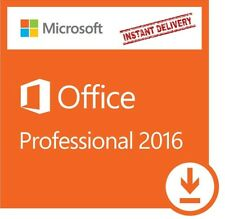 MICROSOFT OFFICE 2016 Professional Plus LICENCE KEY Windows 7-8-10 -1 PC -1 USER