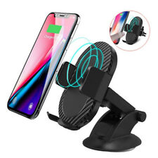 Gravity Car Mount Qi Wireless Charger Charge Pad Cell Phone Holder Stand BDAU