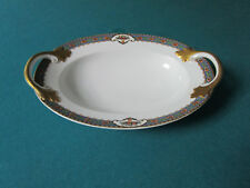 "Rosenthal Germany 1930s Bavaria China Floral Urn Oval Bowl 2 Handles 11"""