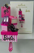 Barbie Ornament SPOTLIGHT ON SHOES Hallmark Keepsake 2011 NIB Bags Boxes Glasses