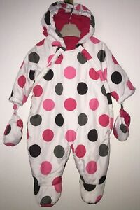 Girls Age 0-3 Months - George Snow Suit