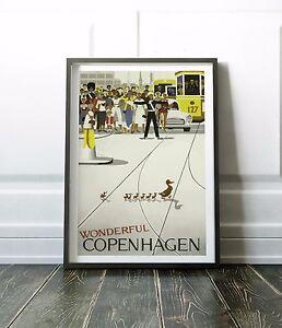 Copenhagen Print, Copenhagen Poster, Travel Print, Wall Art Print, Travel Poster