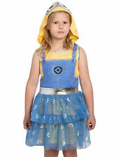 Girls Minions Despicable Me Halloween Costume Dress Mask Hood (Size Large)