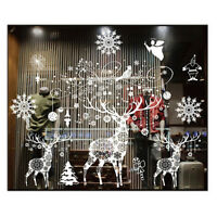 Xmas Wall Sticker Christmas Decorations For Home Christmas Window Sticker Z3M6