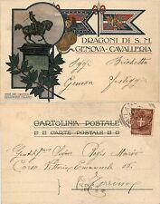 Dragoni di Sua Maestà, cavalleria Genova, viaggiata