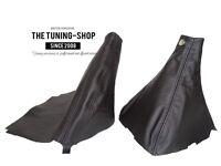 For Subaru Impreza WRX 07-12 Gear & Handbrake Boot Black Leather