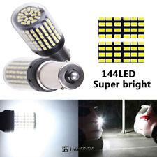 Car Auto Turn Single Light 1156 BAU15S 144 SMD LED Bulbs Canbus Light White 12V