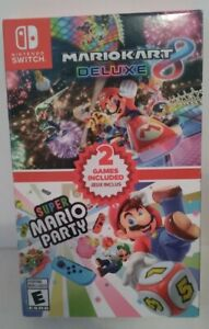 Mario Kart 8 Deluxe + Super Mario Party (Switch, 2020) Brand New, never opened