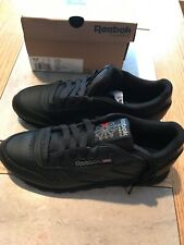 5a9f6987f48 WOMENS REEBOK CLASSIC LEATHER 5324 Black Women s Shoes Fashion Sneakers  Size 6.5