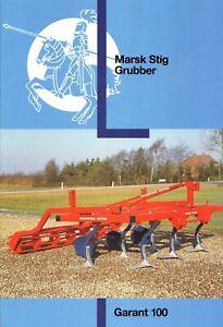 MARSK STIG Dänemark Grubber Garant 100  90er Agrar-Prospekt 2 S #599