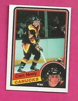 1984-85 OPC # 327 CANUCKS CAM NEELY ROOKIE NRMT+  CARD (INV# D1283)