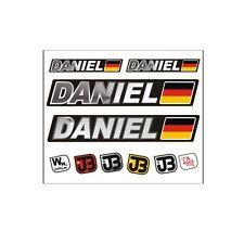 """Daniel"" Auto Fahrrad Motorrad Kart Helm Fahrername Aufkleber Sticker Flagge"