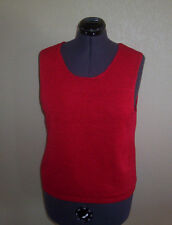 Women's Josephine Chaus Red Sleeveless Pullover Knit Sweater X-Large