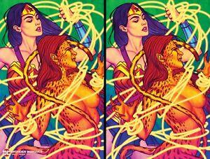 Wonder Woman #9 ACE Exclusive Frison Fluorescent Cover 2-Pack Virgin & Regular🔥