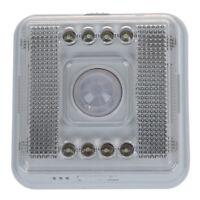 8 LED Nachtlicht Lampe Bewegungsmelder Sensor Weissue20° W1E5) SX